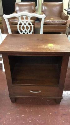 Dark Wood End Table