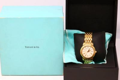 Tiffany & Co. Solid 18K Yellow Gold 37mm Mark Resonator Automatic Watch W/Tiffany Box