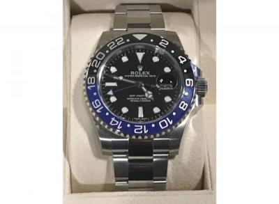 "Rolex ""Batman"" GMT Master II 40mm Stainless Steel Watch New in Box W/Papers (Ref. 116710BLNR)"