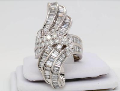 5.05ctw VS2-SI1/G-H Diamond & Solid Platinum Cocktail Ring (Comes W/$11,500 Appraisal)