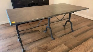 Marble/Slate Top Dining Table