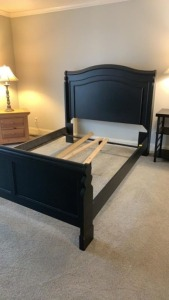 Black/Charcoal Queen Bed
