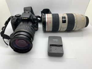 Canon Rebel XTI with Canon Ultrasonic 70-200 Lens