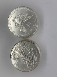 (10) UC 2012 American Eagle Silver Coins