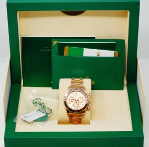 Rolex Daytona 18K 40mm Watch W/Diamond Dial