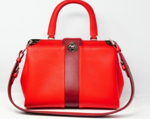 Louis Vuitton Red Leather Astrid Top Handle Bag