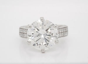 9.04ct GIA SI2/J Diamond Solid Platinum Ring
