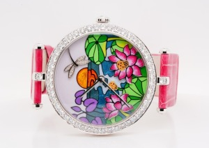 Van Cleef & Arpels Diamond, Enamel 18K Watch #4/22