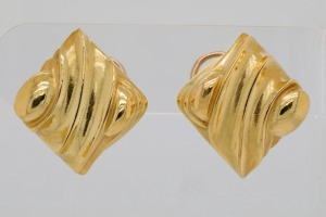 Kieselstein-Cord (1984) 18K Yellow Gold Ear Clips