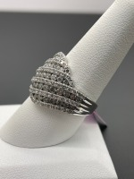Diamond Dinner Ring 3 ctw - 5