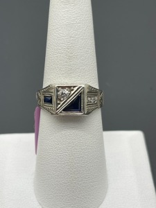 Vintage Estate Sapphire and Diamond Ring
