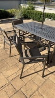 Outdoor Metal Table w/ Chairs & Umbrella - 2
