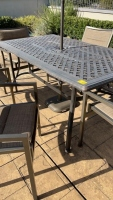 Outdoor Metal Table w/ Chairs & Umbrella - 4