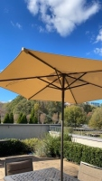 Outdoor Metal Table w/ Chairs & Umbrella - 5