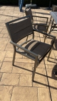 Outdoor Metal Table w/ Chairs & Umbrella - 6