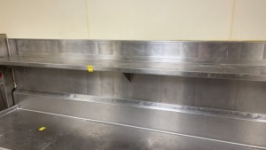 110in Wide x 10in Deep Stainless Shelf
